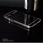 เคส Samsung Galaxy Grand 2 l เคสฝาหลัง + Bumper (แบบเงา) ขอบกันกระแทก สีสเปซเกรย์