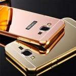เคส Samsung Galaxy Grand 2 l เคสฝาหลัง + Bumper (แบบเงา) ขอบกันกระแทก สีโรสโกลด์