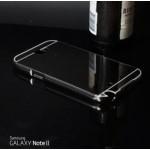 เคส Samsung Galaxy Note 2 l เคสฝาหลัง + Bumper (แบบเงา) ขอบกันกระแทก สีสเปซเกรย์