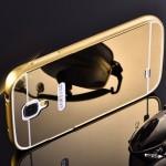 เคส Samsung Galaxy S4 l เคสฝาหลัง + Bumper (แบบเงา) ขอบกันกระแทก สีทอง