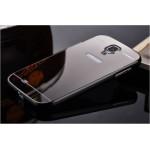 เคส Samsung Galaxy S4 l เคสฝาหลัง + Bumper (แบบเงา) ขอบกันกระแทก สีสเปซเกรย์