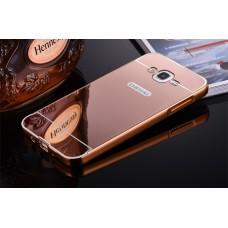 เคส Samsung Galaxy J7 l เคสฝาหลัง + Bumper (แบบเงา) ขอบกันกระแทก สีโรสโกลด์