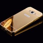 เคส Samsung Galaxy J7 l เคสฝาหลัง + Bumper (แบบเงา) ขอบกันกระแทก สีทอง