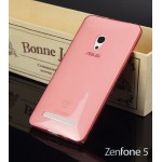 เคส ASUS Zenfone 5 | เคสนิ่ม Super Slim TPU บางพิเศษ พร้อมจุด Pixel ขนาดเล็กด้านในเคสป้องกันเคสติดกับตัวเครื่อง (แดง/ใส)