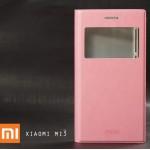 เคส Xiaomi MI3 เคสหนัง PU ฝาพับ สีชมพู เคสฝาพับแม่เหล็ก ระบบ Auto Sleep/Wake up เปิด-ปิดหน้าจออัตโนมัติ