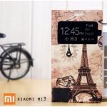 เคสฝาพับพิมพ์ลาย เปิด-ปิด อัตโนมัติ (Premium Flip Case) Xiaomi MI3 ลายที่ 3