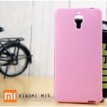 เคส Xiaomi MI4 l เคส JELLY ผิวมันวาวสีสันสดใส สีชมพู