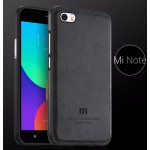 เคส Mi Note / Mi Note Pro Bumper (เกรด Premium) พร้อมฝาหลัง (หนัง) สีดำล้วน