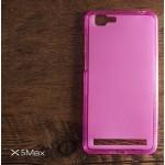 เคส Vivo X5 Max เคสซิลิโคน TPU สีเรียบ (ชมพู)