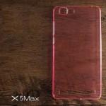 เคส Vivo X5Max เคสแข็งสีเรียบความยืดหยุ่นสูง สีชมพูใส