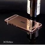 เคส Vivo X5Max l เคสฝาหลัง + Bumper (แบบเงา) ขอบกันกระแทก สีโรสโกลด์