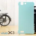 เคส Vivo X3 เคสแข็งแบบบางสีเรียบ (ความยืดหยุ่นสูง) ฟ้า