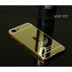 เคส Vivo Y27 l เคสฝาหลัง + Bumper (แบบเงา) ขอบกันกระแทก สีทอง