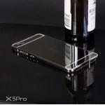 เคส Vivo X5Pro l เคสฝาหลัง + Bumper (แบบเงา) ขอบกันกระแทก สีสเปซเกรย์