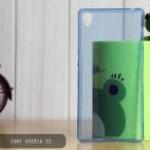 เคส Sony Xperia Z3 | เคสนิ่ม Super Slim TPU บางพิเศษ พร้อมจุด Pixel ขนาดเล็กด้านในเคสป้องกันเคสติดกับตัวเครื่อง สีฟ้า