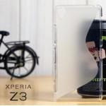 เคส Sony Xperia Z3 l เคสยาง TPU Two-Tone สีขาวใส