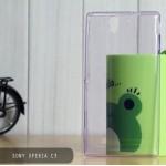 เคส Sony Xperia C3 l เคสนิ่ม Super Slim TPU บางพิเศษ พร้อมจุด Pixel ขนาดเล็กด้านในเคสป้องกันเคสติดกับตัวเครื่อง สีม่วง