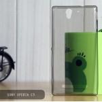 เคส Sony Xperia C3 l เคสนิ่ม Super Slim TPU บางพิเศษ พร้อมจุด Pixel ขนาดเล็กด้านในเคสป้องกันเคสติดกับตัวเครื่อง สีดำ