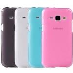 เคส Samsung Galaxy J2 เคสนิ่ม TPU (ลดรอยนิ้วมือบนตัวเคส) สีเรียบ สีชมพู