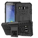เคส Samsung Galaxy J2 กรอบบั๊มเปอร์ กันกระแทก Defender สีดำ (เป็นขาตั้งได้)