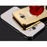 เคส Samsung Galaxy J5 l เคสฝาหลัง + Bumper (แบบเงา) ขอบกันกระแทก สีเงิน