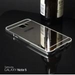 เคส Samsung Galaxy Note5 l เคสฝาหลัง + Bumper (แบบเงา) ขอบกันกระแทก สีเงิน