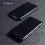 เคส ASUS Zenfone GO (ZC500TG) เคสหนัง + แผ่นเหล็กป้องกันตัวเครื่อง (บางพิเศษ) สีดำ