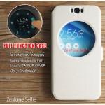 เคส Zenfone Selfie (ZD551KL) เคสฝาพับ แบบพิเศษ FULL FUNCTION ช่องกว้างพิเศษ รองรับการทำงานได้สมบูรณ์แบบ สีขาว