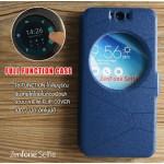 เคส Zenfone Selfie (ZD551KL) เคสฝาพับ แบบพิเศษ FULL FUNCTION ช่องกว้างพิเศษ รองรับการทำงานได้สมบูรณ์แบบ สีน้ำเงิน