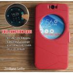 เคส Zenfone Selfie (ZD551KL) เคสฝาพับ แบบพิเศษ FULL FUNCTION ช่องกว้างพิเศษ รองรับการทำงานได้สมบูรณ์แบบ สีแดง