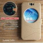 เคส Zenfone Selfie (ZD551KL) เคสฝาพับ แบบพิเศษ FULL FUNCTION ช่องกว้างพิเศษ รองรับการทำงานได้สมบูรณ์แบบ สีทอง