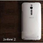 เคส Zenfone 2 (ZE551ML / ZE550ML) | เคสนิ่ม ซิลิโคน คุณภาพดี แบบทูโทน สีขาว / ใส
