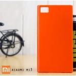 เคส Xiaomi Mi3 l เคส JELLY ผิวมันวาวสีสันสดใส สีส้ม