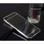 เคส HTC Desire 820 l เคสฝาหลัง + Bumper (แบบเงา) ขอบกันกระแทก สีสเปซเกรย์