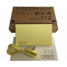 ELOOP E12 Power bank 11000 mAh เหลือง