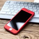 เคส iPaky 360 Degree พร้อมกระจกนิรภัยสำหรับ iphone 6 ( Metalic Red )