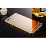 เคส OPPO Mirror 5 Lite l เคสฝาหลัง + Bumper (แบบเงา) ขอบกันกระแทก สีทอง