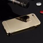 เคส iPhone 5/5S l เคสฝาหลัง + Bumper (แบบเงา) ขอบกันกระแทก สีทอง