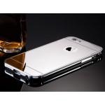 เคส iPhone 6/6S l เคสฝาหลัง + Bumper (แบบเงา) ขอบกันกระแทก สีเงิน
