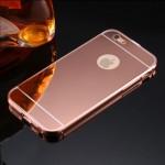 เคส iPhone 6/6S l เคสฝาหลัง + Bumper (แบบเงา) ขอบกันกระแทก สีโรสโกลด์