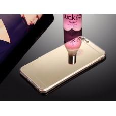 เคส iPhone 6/6S l เคสฝาหลัง + Bumper (แบบเงา) ขอบกันกระแทก สีทอง