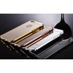 เคส iPhone 6 Plus l เคสฝาหลัง + Bumper (แบบเงา) ขอบกันกระแทก สีเงิน