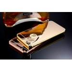 เคส iPhone 6 Plus l เคสฝาหลัง + Bumper (แบบเงา) ขอบกันกระแทก สีทอง