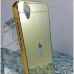 เคส Vivo Y31 l เคสฝาหลัง + Bumper (แบบเงา) ขอบกันกระแทก สีทอง