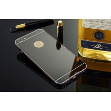 เคส iPhone 6/6S l เคสฝาหลัง + Bumper (แบบเงา) ขอบกันกระแทก สีสเปซเกรย์