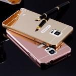 เคส Samsung Galaxy Note 3 l เคสฝาหลัง + Bumper (แบบเงา) ขอบกันกระแทก สีโรสโกลด์