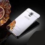 เคส Samsung Galaxy Note4 l เคสฝาหลัง + Bumper (แบบเงา) ขอบกันกระแทก สีเงิน