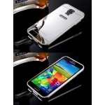 เคส Samsung Galaxy S5 l เคสฝาหลัง + Bumper (แบบเงา) ขอบกันกระแทก สีเงิน