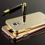 เคส Samsung Galaxy S5 l เคสฝาหลัง + Bumper (แบบเงา) ขอบกันกระแทก สีโรสโกลด์