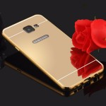 เคส Samsung Galaxy A5 2016 l เคสฝาหลัง + Bumper (แบบเงา) ขอบกันกระแทก สีทอง
